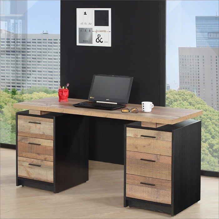 【DH】貨號N367-2名稱《森克尼》五尺厚切木紋電腦桌(圖一)150~170CM可展開收合.台灣製可訂做主要地區免運費