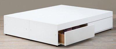 【DH】貨號B44-4名稱《魅力白色》3.5尺單人6分木心板抽屜型床底(圖一)二抽.備有5尺.6尺可選.新品特價