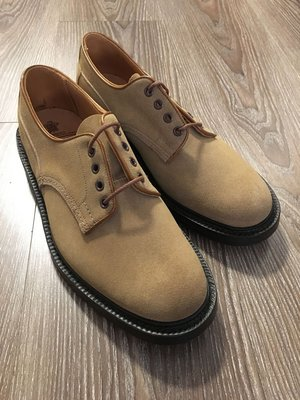 Trickers M5636 Gaucho Suede Super Shoe UK9 Fitting5 全新