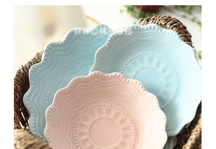 ~蘇菲亞精品傢飾~萌兔系列深盤點心盤15公分6吋藍色/粉色