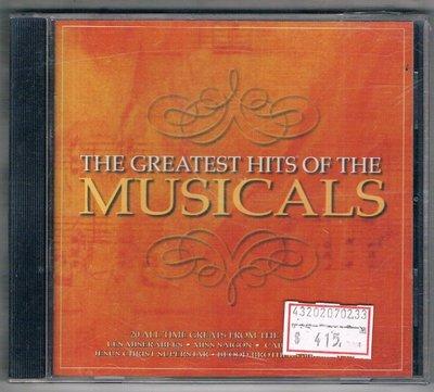 西洋CD-The Greatest Hits Of The Musicals (CRIMCD189)/全新/免競標