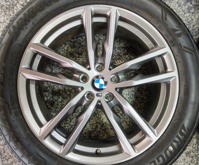 19吋正BMW G01 G02 X3 X4 頂級M-Power原廠配圈+防爆胎-新車中心拆下-X1 X2 G30 G11