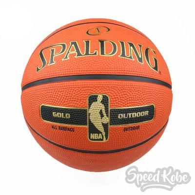 SPALDING 籃球 Rubber 橘 金框 室外 7號球 SPA83492【Speedkobe】
