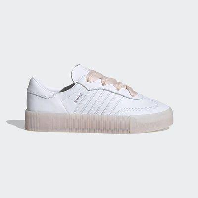 GOSPEL【Adidas Originals SambaRose 】白 玫瑰粉 餅乾 厚底 增高 緞帶 FY3030
