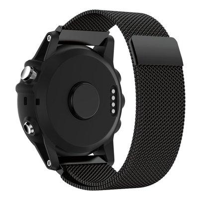 【Insist】Garmin佳明Fenix3 Hr Fenix5 5X錶帶米蘭尼斯回環磁吸不銹鋼錶帶