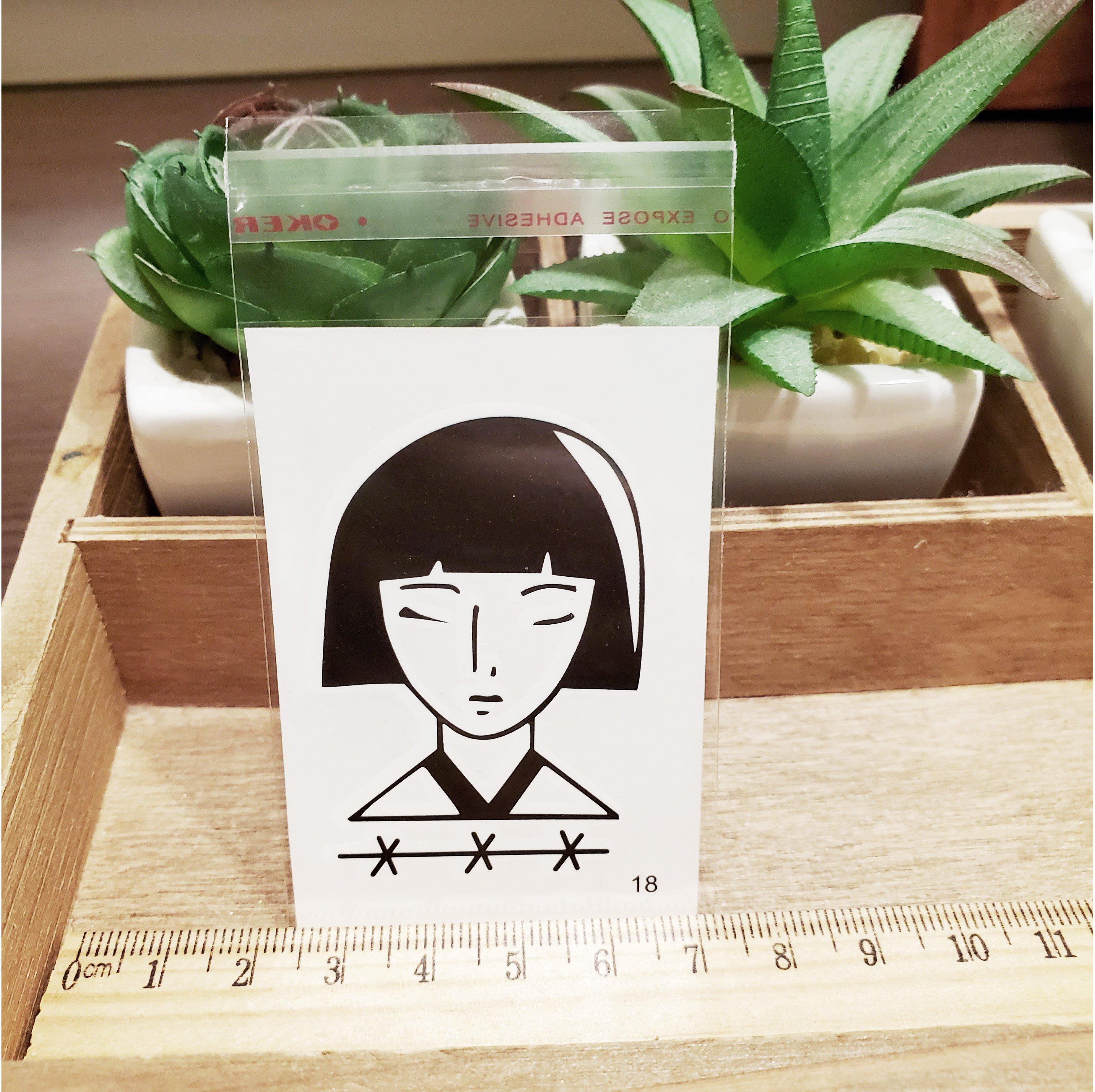 【萌古屋】百態人生18單圖 - 男女防水紋身貼紙刺青貼紙 K43