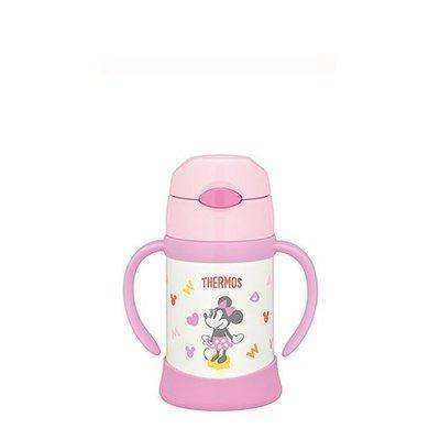 【紫貝殼】THERMOS 膳魔師 不鏽鋼保冷保溫瓶 兒童雙耳學習杯 250ML 原廠授權【米妮】