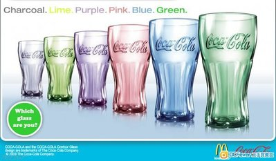 McDonald Coca Cola CONTOUR GLASS 可口可樂 可樂杯