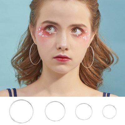 SWEET COVE~小麋人925簡約大小圓圈顯臉小純銀耳圈網紅耳環氣質個性耳釘女款