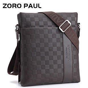 英國名牌 ZOROPAUL 卓倫保羅正品牛皮潮男側背包平板包時尚休閑薄款包包