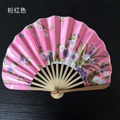 B1 和風典雅圓扇扇子折疊團扇和風折扇 +3隻紅色髮簪 筷子 粉紅色現貨