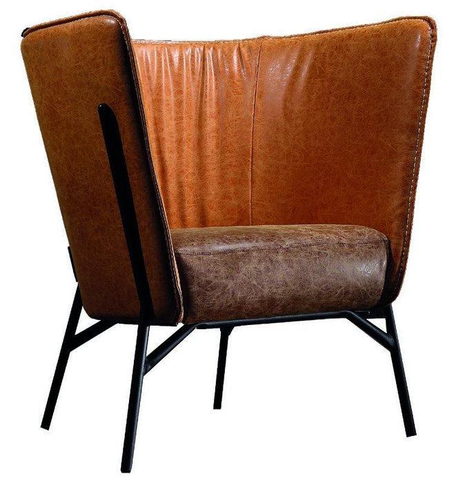 FA-184-2 【歐瑞家具】尼克深橘單人椅/皮沙發/L型沙發/高品質/限新竹以北區/超低價/系統家具/高品質/1元起
