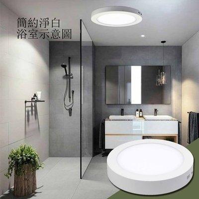 5個超商免運【北歐簡約-LED吸頂燈】22公分18W 霧面透光 超亮高流明 安裝簡單 浴室 走廊 陽台 玄關
