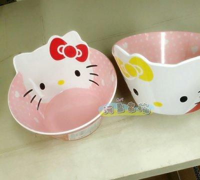 ~河馬家族~日本帶回_Hello KITTY造型硬塑膠湯碗☆現貨577202