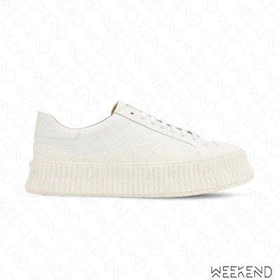【WEEKEND】JIL SANDER Vulcanized 皮革 鞋子 休閒鞋 白色