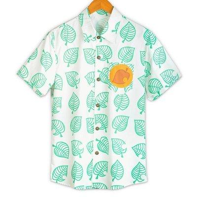 『暖寒小筑』 漫宅坊游戲動物之森周邊襯衫貍克動漫森友會同款夏款短袖豆貍衣服