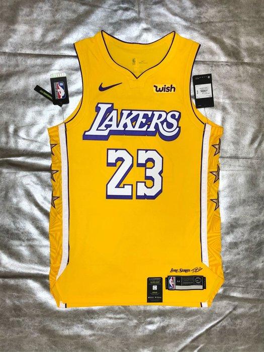 賣個JORDAN NBA 湖人隊19-20城市版球衣 含贊助標 LeBron James Nike au 球員版 44m