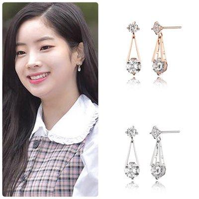 【韓Lin連線代購】韓國 HAESOO.L 海秀兒 - JE082 925銀 明星造型鑲鑽耳環