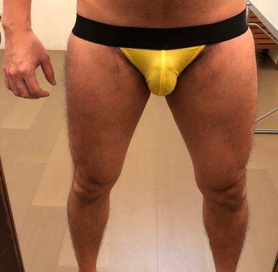 武 裁縫工作室  陽光金黃色 運動型後空三角內褲  Fight Tailor Studio Sunshine Yellow Jockstraps
