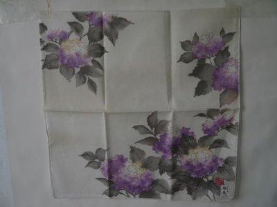 棉麻水墨畫手巾小方巾3