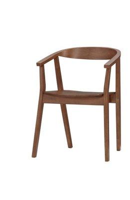【DH】貨號G1019-9商品名稱 德奈 56CM橡膠實木餐椅(圖一)。質感一流˙簡約設計˙主要地區免運