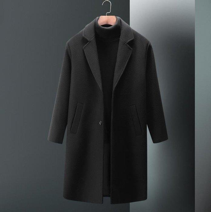 大衣   2018冬季羊毛大衣中長款毛呢外套過膝風衣英倫風