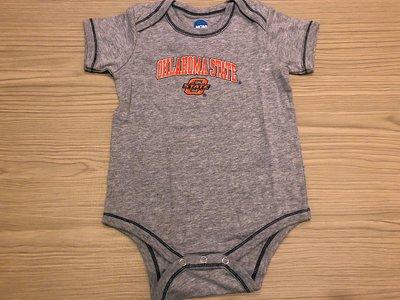 JFK 美國NCAA OKLAHOMA STATE UNIVERSITY 幼童短袖連身裝 包屁衣 12m 1T