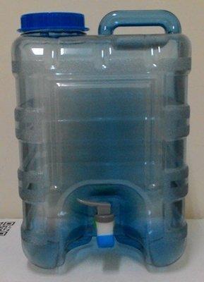 飲用水桶 手提附水龍頭 食品級pc材質 提水桶 儲水桶 喝水桶  20公升(提手蓋子分開按壓式水龍頭)