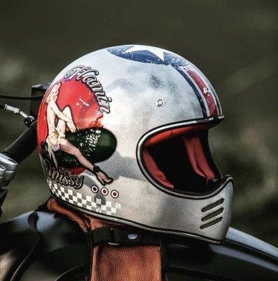 ♛大鬍子俱樂部♛ Premier® Trophy MX Pin up 義大利 復古 女郎 仿舊 全罩 山車 安全帽