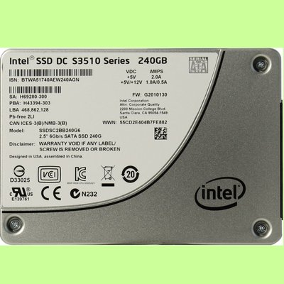 5Cgo【權宇】Intel固態硬碟SSD S3520 240Gb 240G SATA ssdsc2bb240g6 含稅