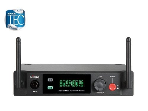 面可議價 來電店內更便宜 竹北鴻韻音響影音生活館 MIPRO嘉強電子 ACT-2402 固定式天線半U雙頻道接收機