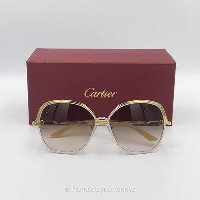 【全新】Cartier 卡地亞 Tri Ruban Organza Sunglasses 太陽眼鏡 真品