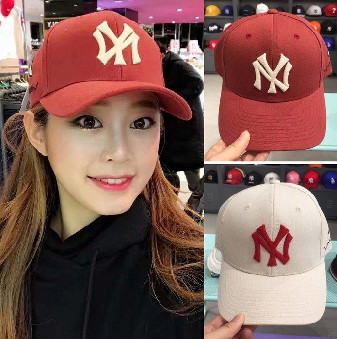 MLB 紐約洋基隊 蜜蜂刺绣棒球帽 現貨!