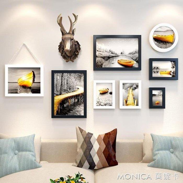 壁畫 復古工業風房間裝飾品鹿頭壁掛餐廳墻飾咖啡廳服裝店背   IGO