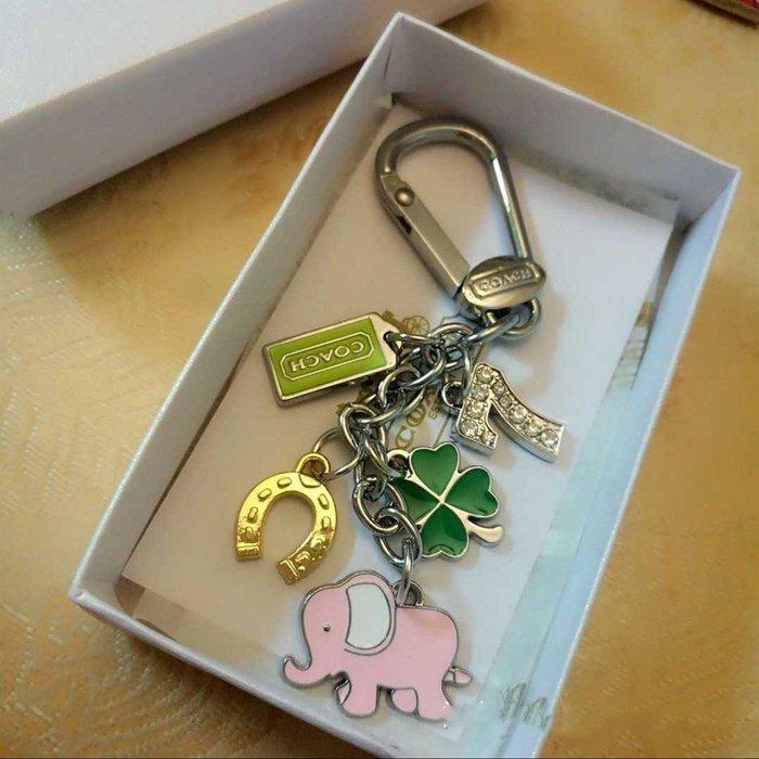 恬恬精品 COACH  大象汽車鑰匙扣 串串多吊墜鑰匙圈多 現貨 包掛 包扣