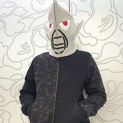 A BATHING APE x Mo' Wax UNKLE FUTURA 聯名 外星人連帽外套 帽夾 BAPE