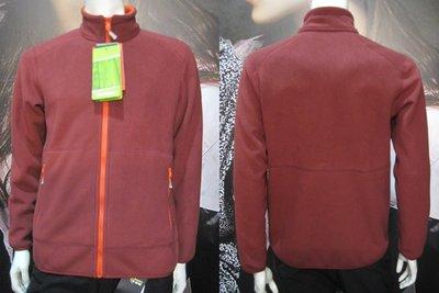 CARAVA 男款刷毛外套 (暗紅) 400g/m2超厚保暖透氣FIEECE羔羊刷毛 **特價1790元**