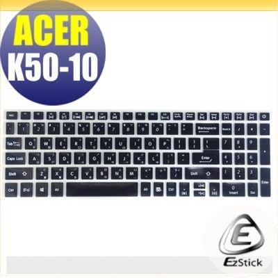 【Ezstick】ACER F15 K50-10 適用 中文印刷鍵盤膜(台灣專用,注音+倉頡) 矽膠材質