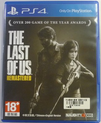 PS4 最後生還者 重製版 The Last of Us (中文版)**(二手片-光碟約9成8新)【台中大眾電玩】