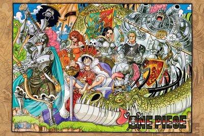 日本正版拼圖.One piece 海賊王 航海王 魯夫海賊團 1000片拼圖.1000-578