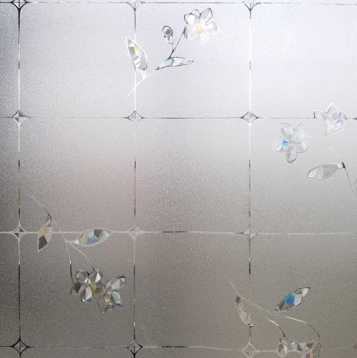 創意 居家裝飾 無膠防霉抑菌窗簾膜-53衛生間隱私七彩花臥室客廳浴室透光不透明