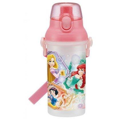 【日本人氣代購】迪士尼公主系列 小美人魚 長髮公主 白雪公主 粉色 直飲式冷水壺