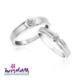 威世登 天然鑽石《心動系列》光彩焦點 女戒- 韓風設計、情人節、生日、網友狂推熱銷款-JDA03238G-AGCXX