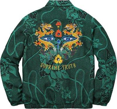 17SS SUPREME Truth Tour Jacket 95%新正品公司貨含運 可刷卡分期 現貨 L