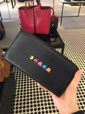COACH 55736 新款女士小精靈系列女士皮夾 拉鏈長夾 手拿包 12卡位 附購買證明
