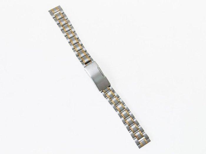 全鋼手錶錶帶 不鏽鋼錶帶 鋼帶 勞力士可用  – 平口 – 間金 - 多尺寸可選