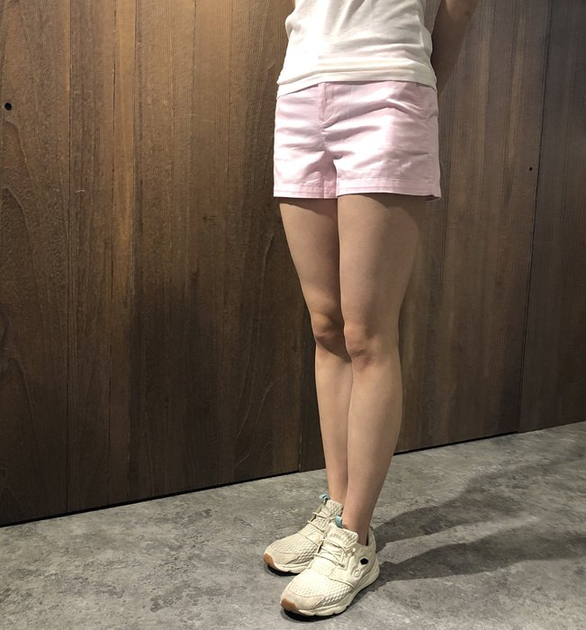 美國百分百【Ralph Lauren】褲子 RL 休閒短褲 牛仔褲 熱褲 Polo 小馬 女 27腰 粉紅色 I395
