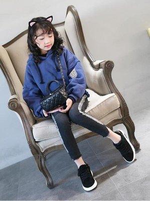 ZIHOPE 女童鞋秋冬新款加絨兒童運動鞋女孩網紅童鞋韓版百搭休閒棉鞋ZI812