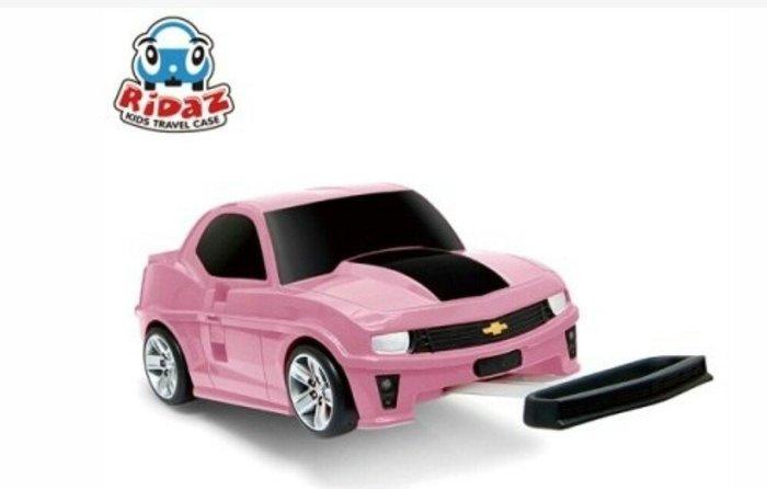 天使熊雜貨小舖~Ridaz 跑車行李箱 Chevrolet Camaro ZL1(粉色) 造型登機箱