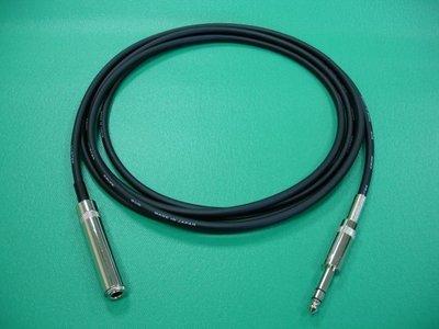 【台中線民】《耳機延長立體導線》CANARE {L-2T2S} VS. 甬聲 {6.3公對6.3母} = 3公尺